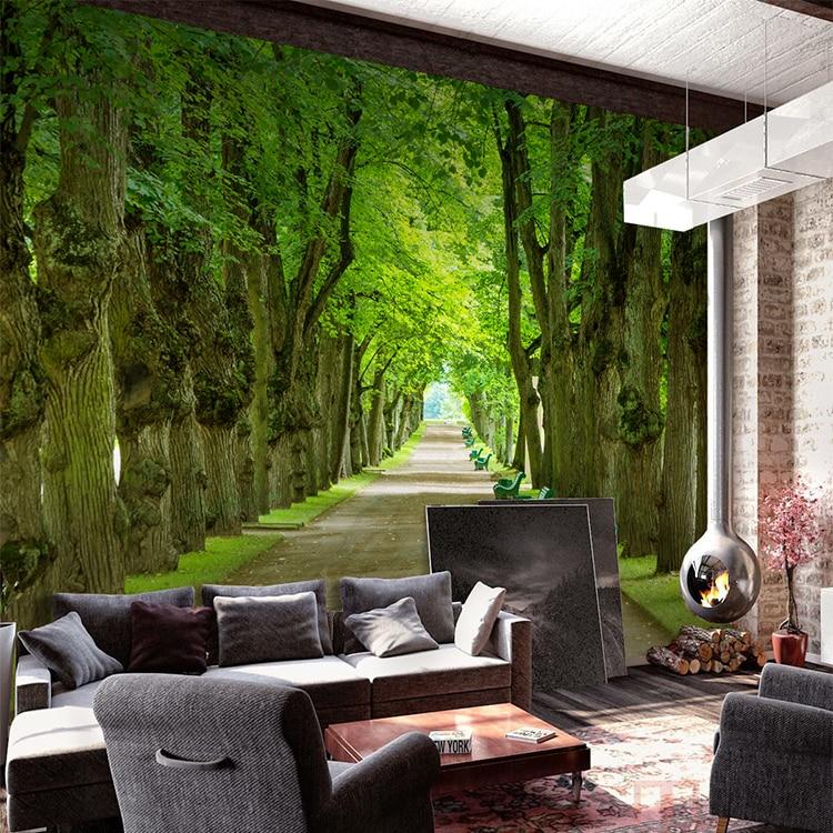 yoga studio living stairs dance sofa mural stereoscopic