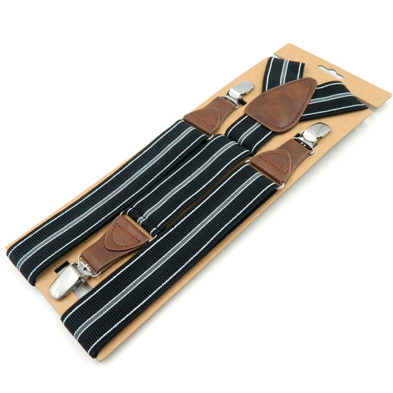 3 Clips Men's Suspender 2019 Adult Leather Braces Fashion Suspensorio Tirantes Hombre Father Bretelles Gifts 5pcs/lot