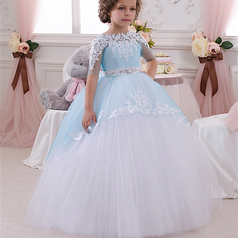 Compare Prices on Little Girls Ball Gown Dresses Blue- Online ...