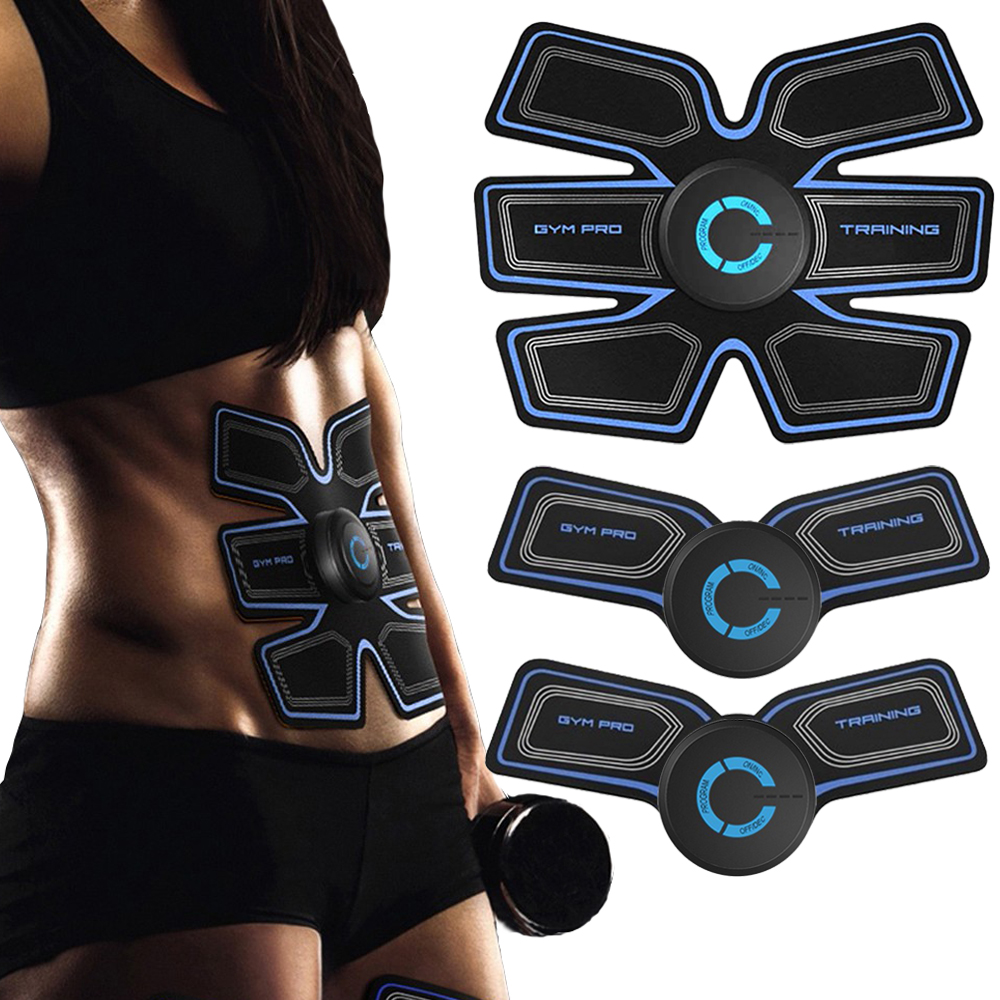 Abdominal Muscle Trainer Massage Stimulator Body Slimming Machine Fat Burning Fitness Training Workout Body Building image
