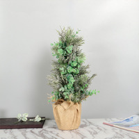Eucalyptus Leaves Bonsai 45cm Garden Decoration Green Artificial Flowers Spring Home Decoration Accessories Indoor Windowsill