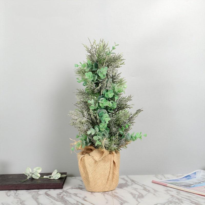 Eucalyptus Leaves Bonsai 45cm Garden Decoration Green Artificial Flowers Spring Home Decoration Accessories Indoor Windowsill