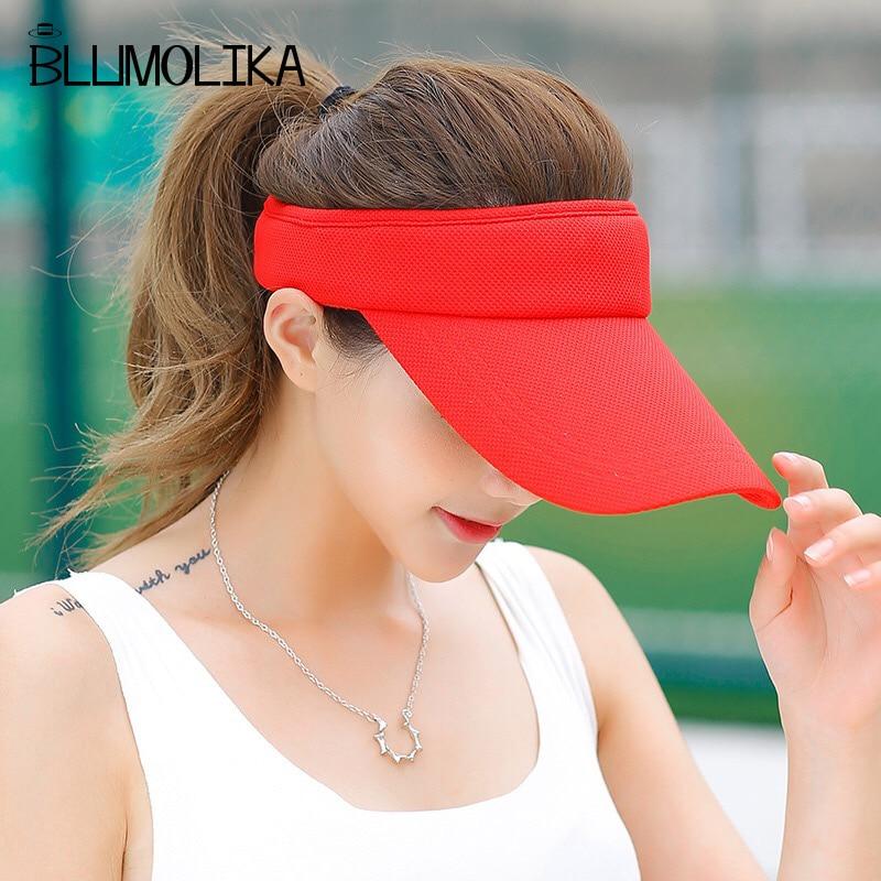 Partihandel Mode Topless Tennis Caps Solid Färg Sun Hat För Kvinnor - Kläder tillbehör - Foto 2