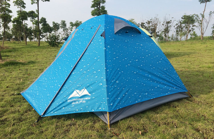 0ad62e92022 2016 New Arrived blue green orange 200 140 110cm Double Layer 2-3Person Outdoor  Camping Hike Travel Tent