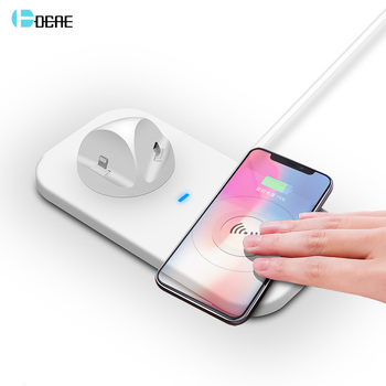 DCAE 3 en 1 cargador inalámbrico QI para iPhone XS MAX XR 8X8 plus almohadilla de carga inalámbrica para Samsung s9 S8 S7 Xiaomi Micro tipo C USB