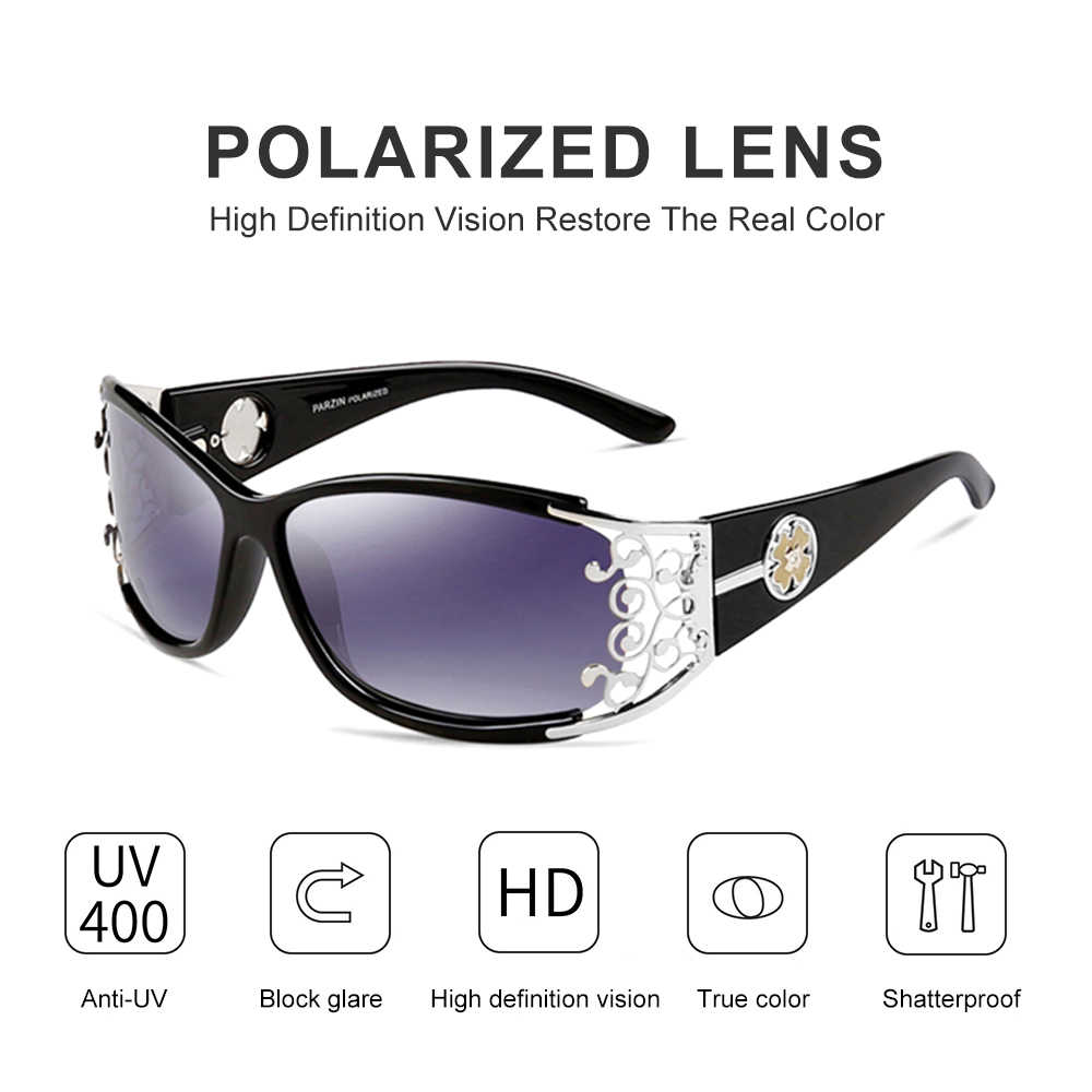2b7856cb0 ... PARZIN Luxury Brand Vintage Sunglasses Women Polarized Ladies Sun  Glasses For Women Hollow Lace Feminine Glasses ...