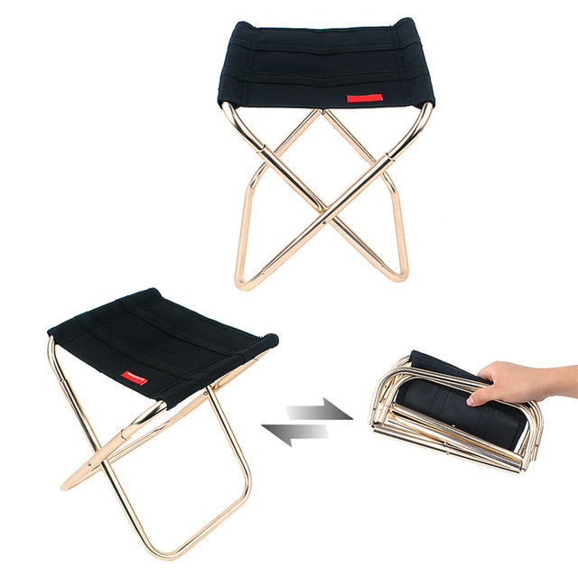 Marvelous Aluminum Alloy Portable Folding Chair Seat Outdoor Fishing Camping Picnic  Beach Foldable Chairs Hot Sale