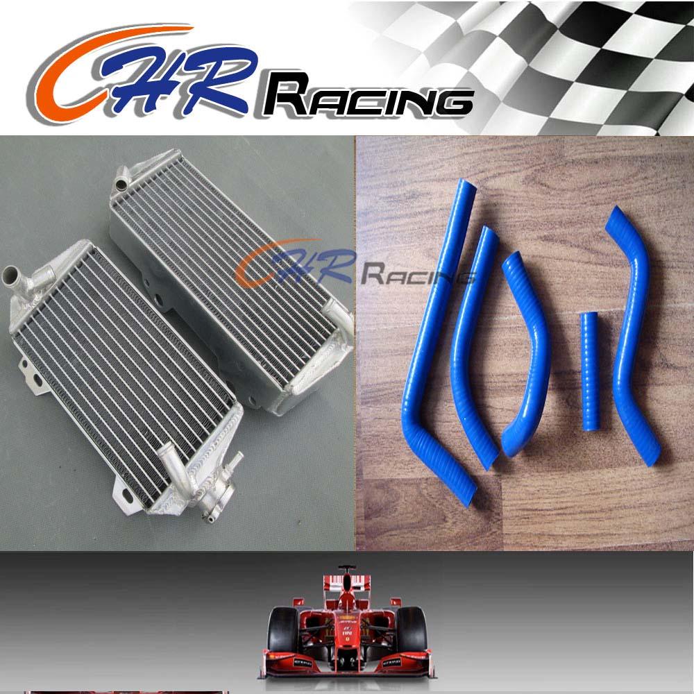 aluminum radiator/& silicone hoses FOR Suzuki RM-Z450 RMZ450 RMZ 450 2005
