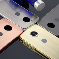 Shockproof Aluminum Metal Bumper For Motorola Moto Z Play Luxury Phone Frame With Plastic Back Cover