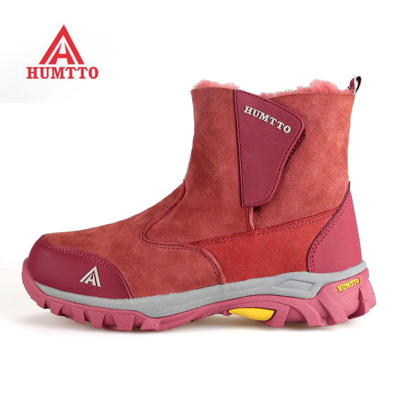 HUMTTO Women's Winter Outdoor Hiking Trekking Boots Shoes For Women Sport Warm Climbing Mountain Snow Boots Shoes Woman humtto new hiking shoes men outdoor mountain climbing trekking shoes fur strong grip rubber sole male sneakers plus size