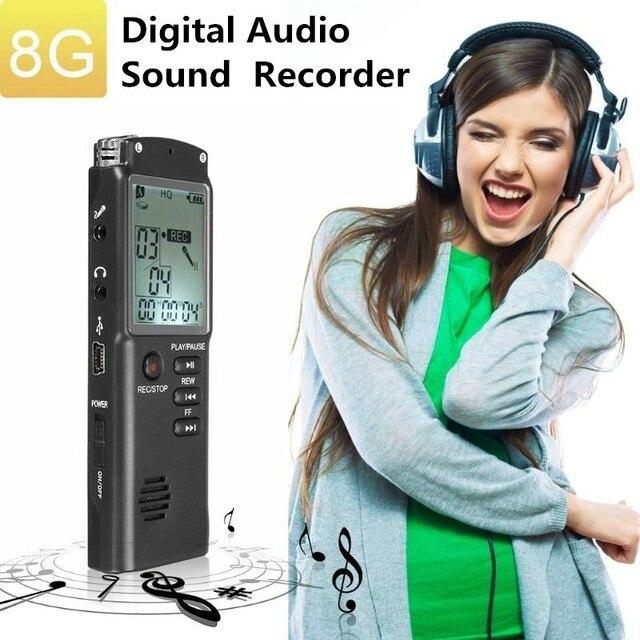 8 GB/16 GB/32 GB MP3 Spieler Wiederaufladbare Aufnahme Pen Digital Audio Voice Recorder USB Flash Disk mit Mikrofon