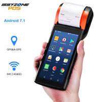 POS Android 7.1 PDA Handheld POS Terminal Drucker PDA eSIM 4G WiFi mit Kamera lautsprecher Empfang Drucker für mobile auftrag markt