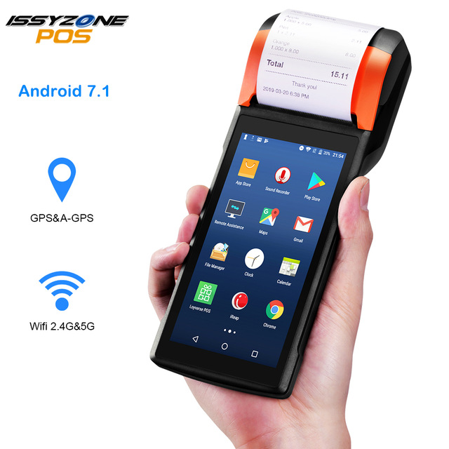POS Android 7.1 PDA Handheld POS Terminal  Sunmi V2 PDA eSIM 4G WiFi with Camera speaker Receipt Printer for mobile order market