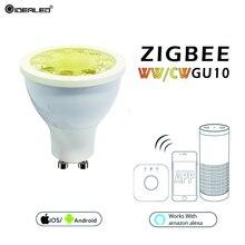 купить ZIGBEE GU10 link zll bridge5W dimmer ww/cw LED spotlight AC100-240V smart app work compatibility amazon echo plus Many gateways недорого