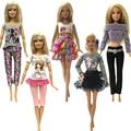 NK estilo de mezcla 5 unids/set muñeca vestido hecho a mano falda moda de ropa para muñeca Barbie accesorios bebé juguetes mejor regalo caliente venta JJ
