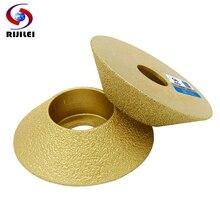 цены на RIJILEI 74mm*30*35 Brazed Marble abrasive Disc 45 degree Single Angle Grinder granite edging wheel Diamond grinding wheel MX50 в интернет-магазинах