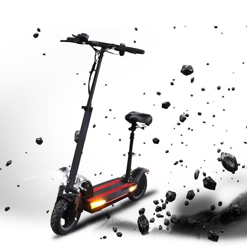48V 48V500W 26A max scooter elétrica da bateria de lítio mais de 100km bicicleta elétrica Dobrável com assento skate elétrico kick scooter