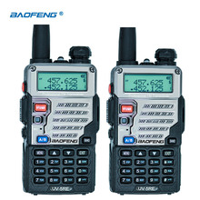 2 шт Baofeng UV 5RE иди и болтай Walkie Talkie с двухдиапазонной СВ радио UV 5R 5 Вт 128CH UHF VHF Портативный двухстороннее радио станция охотничий оптический трансивер