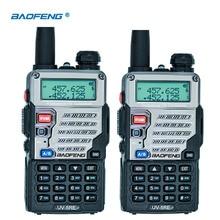 2 шт. Baofeng UV-5RE двухканальные рации Dual Band CB радио UV-5R 5 Вт 128CH UHF VHF Портативный двухстороннее станции Охота трансивер