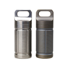 High Quality Waterproof Titanium Pill Holder/Container Outdoor Camp Emergency Medicine Bottle Capsule Case Box 2.6*1