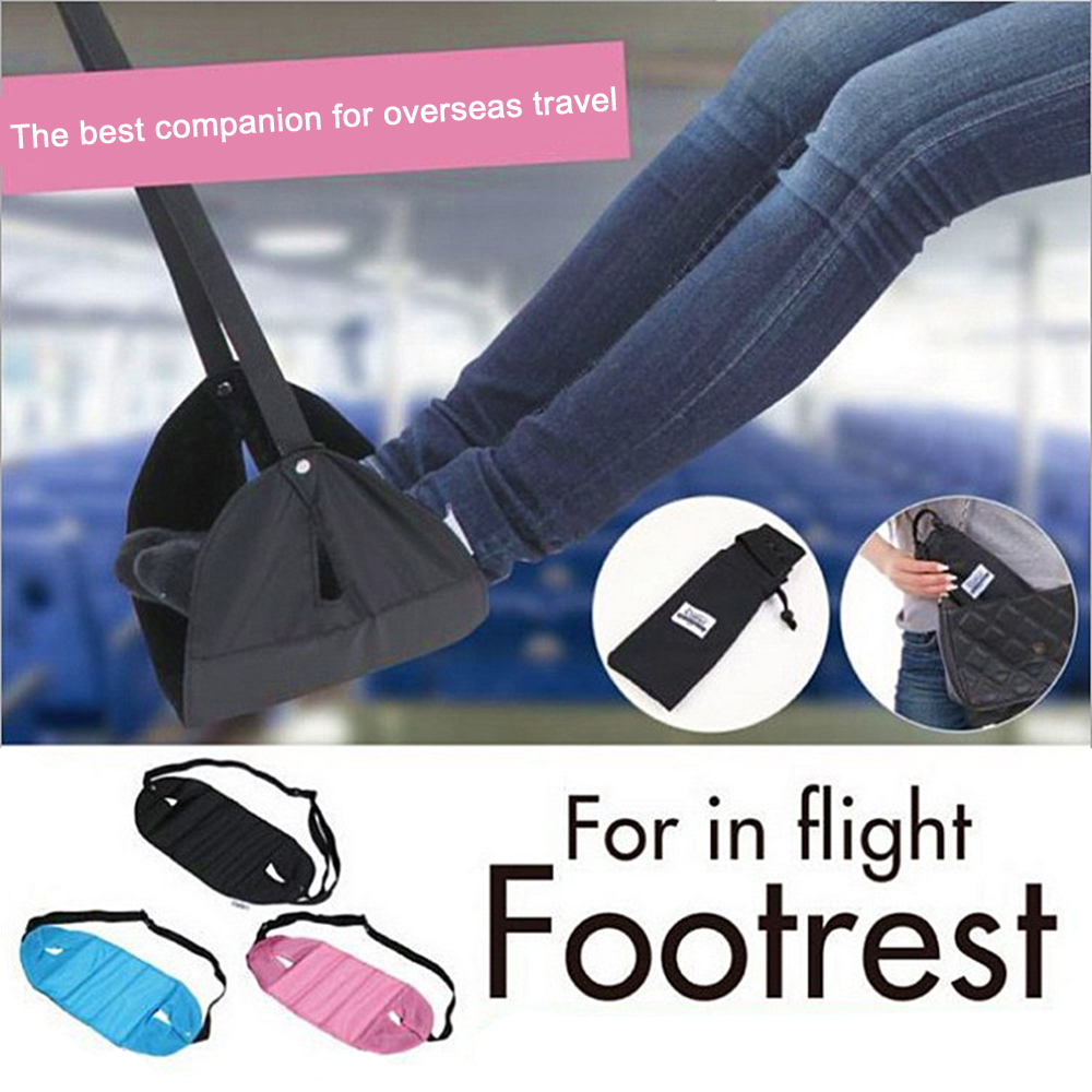 Foreign hot air travel rest hammock high iron pedal long to relieve foot fatigue- rest hammock Rest Stand Desk Feet Hammock travel dedicated lazy people pedal foot rest for airplane high speed railway