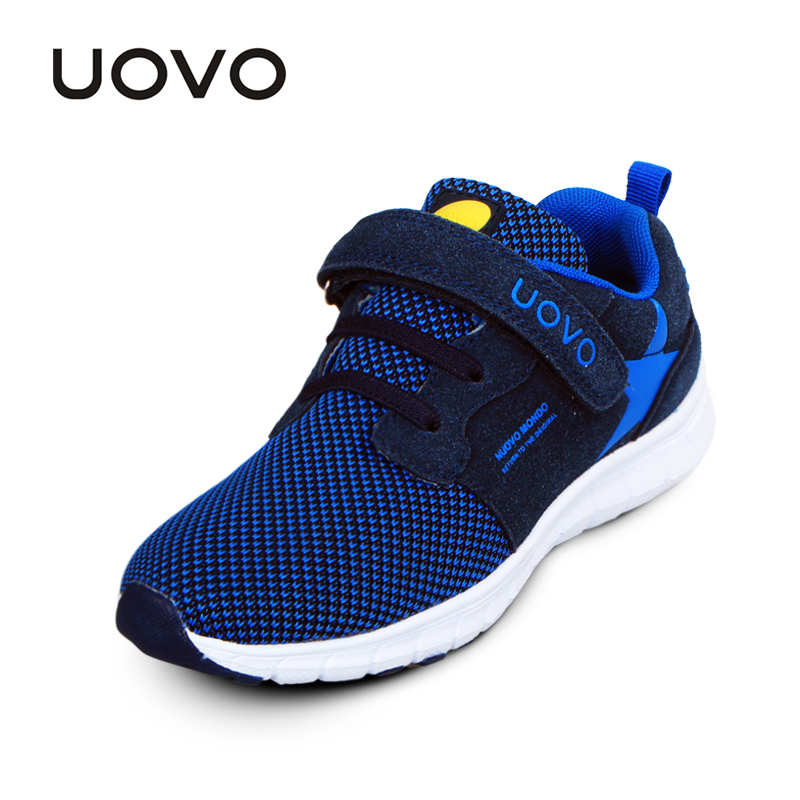 UOVO Spring Kids Shoes Fashion Breathable Mesh Shoes Children Sneakers For Boys And Girls Sport Running Shoes Size 27#-37#