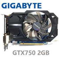 Gigabyte GTX750 2 GB GeForce GTX 750 2G D5 DDR5 128 bits pc de bureau cartes graphiques cartes graphiques d'ordinateur