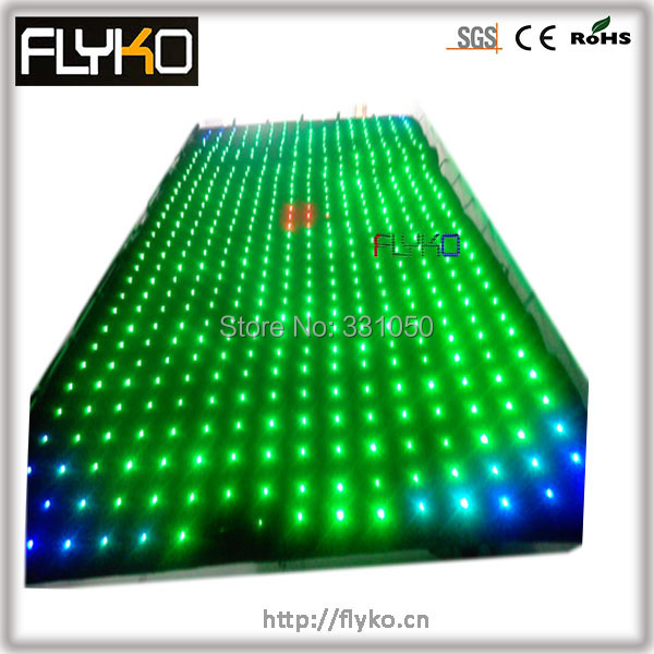 Free shipping p18CM 4x4m SMD1804 lamps led vision cloth curtain stage backdrop