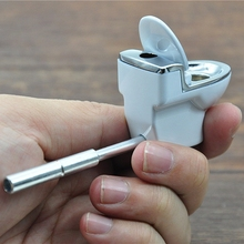 Toilet Model Metal Pipe Tobacco Pipes Weed/Tobacco/