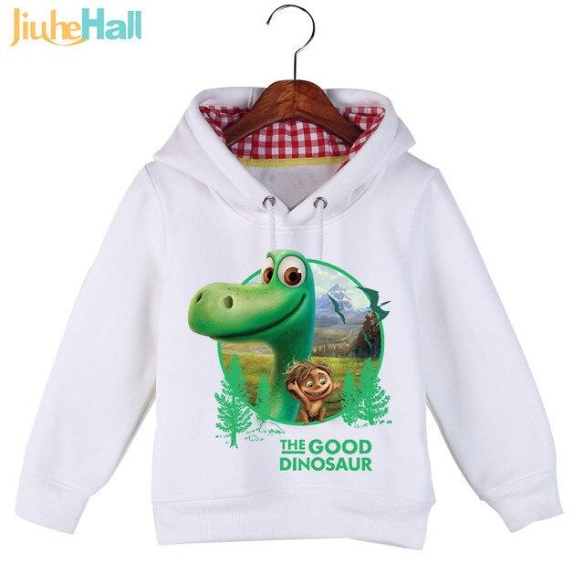 Jiuhehall Высокое Качество детские Динозавров Толстовки и Кофты Осень Зима Плюс Бархат Мальчики Девочки Балахон GCM016