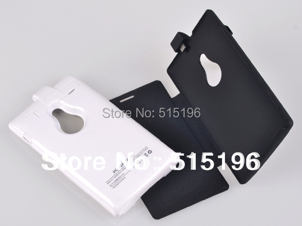 Cell phone cases flip cover 2800mAh External Backup Power Battery charger Case Nokia Lumia 925 stand - Calitte store