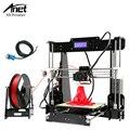ANET A8 DIY impressora 3D Prusa i3 precisão Com Auto Livre Sensor de Posição de nivelamento 2 Kit DIY Fácil Montar Filamento 8 GB SD cartão