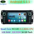5.1.1 Quad Core CPU Android Coche DVD GPS de la Radio Para DODGE RAM 1500 2500 3500 Pickup Trucks Avenger Calibre Challenger Dakota Dura