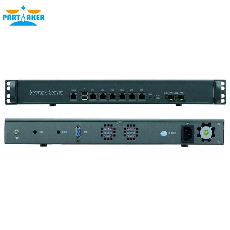 1U router sieciowy firewall Intel G2020 serwer procesora urządzenie Firewall z 6 ethernetami