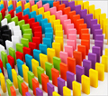 360 unids/lote Dominó Rompecabezas Colorido Rompecabezas de La Primera Infancia Juguetes Educativos Juguete de Aprendizaje Temprano