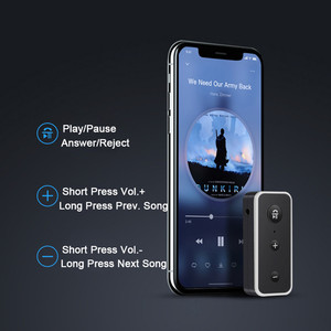 Image 5 - Bluetooth 5.0 מקלט לרכב מוסיקת סטריאו 3.5mm AUX שקע Hifi אודיו אלחוטי דיבורית מתאם עבור אוזניות רמקול עם מיקרופון