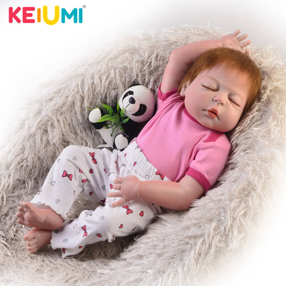 New Arrival 23'' 57 cm Reborn Dolls Lifelike Full Silicone New Born Babies Doll Boy Closed Eyes Toddler Play Toy Birthday Gifts цена