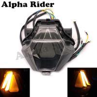 Motorcycle Taillight Turn Signals Integrated Rear Brake LED Light Smoke For 2013 2014 2015 2016 Yamaha