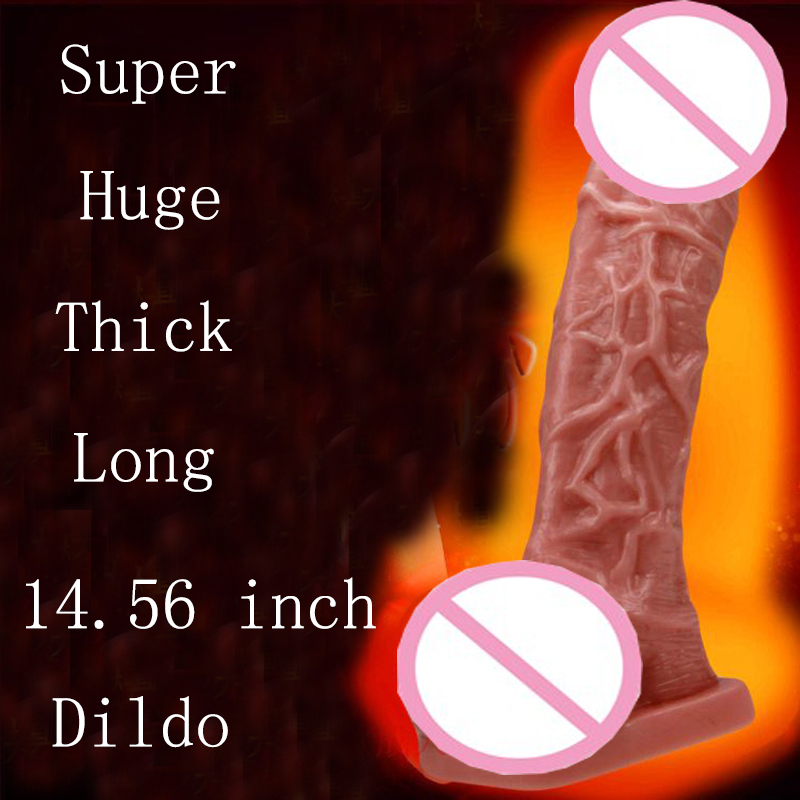 1PC Amazing 14.56 Inches Giant And Long Huge Dildo Super Big thick Dick Male Artificial Penis Adult Sex Toy For Women Men Couple wearable penis sleeve extender reusable condoms sex shop cockring penis ring cock ring adult sex toys for men for couple