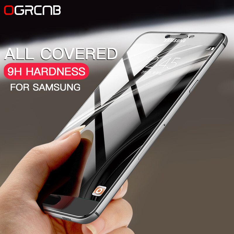Galleria fotografica 9H Protective Full Cover Tempered Glass For Samsung Galaxy J3 J5 J7 2016 Screen Protector For Samsung A3 A5 A7 2016 2017 Film