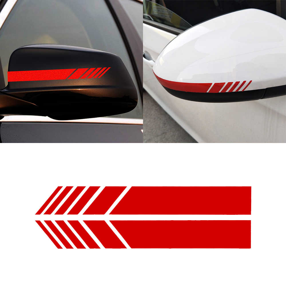 2pcs lot car styling auto suv vinyl graphic car sticker rearview mirror side decal stripe