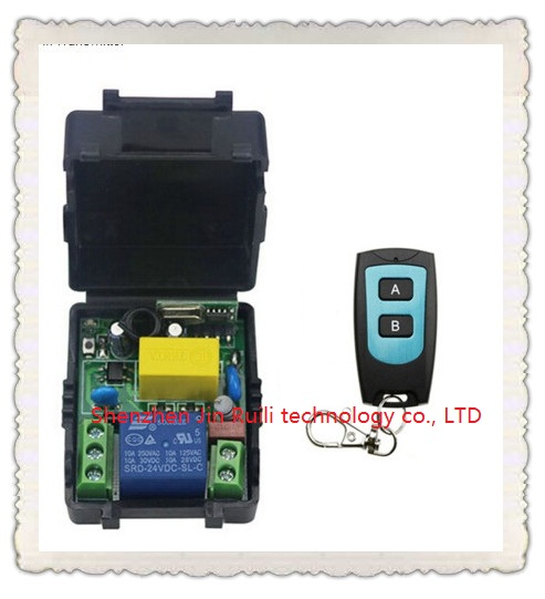 Universal AC220V 1CH 10A Remote Control Switch Relay Output Radio Receiver Module and Waterproof Transmitter Toggle Momentary 315 433mhz 12v 2ch remote control light on off switch 3transmitter 1receiver momentary toggle latched with relay indicator