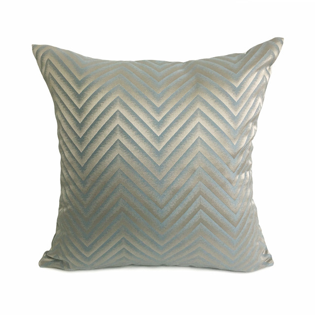 New Fashion Modern Woven Geometric Gray Zigzag Sofa Chair Designer Cushion Cover Decorative Square Throw Pillow Case 45 X 45cm