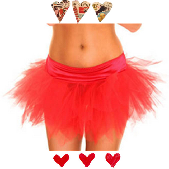 Red Summer Style Multilayer Lace Skirt Woman Club Party Rock Petticoat Ball Gown Sexy Tutu Skirts Womens Adult Tulle Skirt