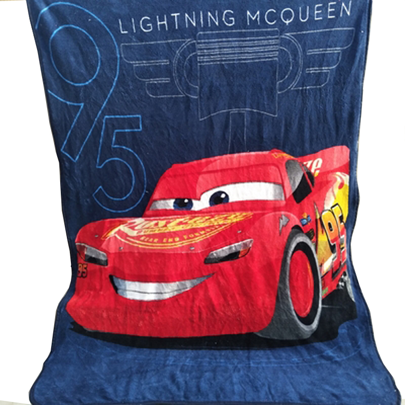 Disney Cartoon Lighting Mc Queen Plush Throw Fleece Blanket Throw for Boys Children on Crib Sofa Couch Kids Christmas Gift