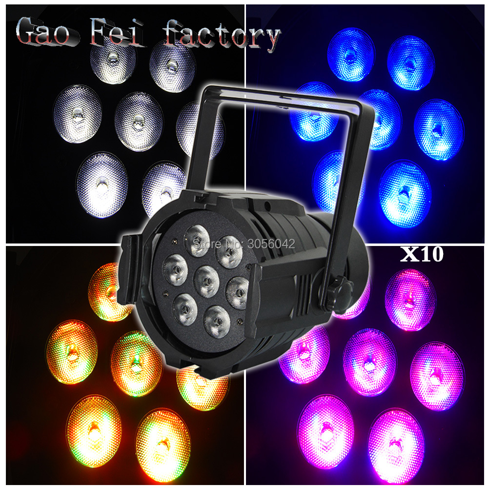 10pcs/lot Cast aluminum 7X12W led Par lights RGBW 4in1 professional stage dj equipment десятое королевство набор для творчества вышивка утенок с рамкой и пяльцами