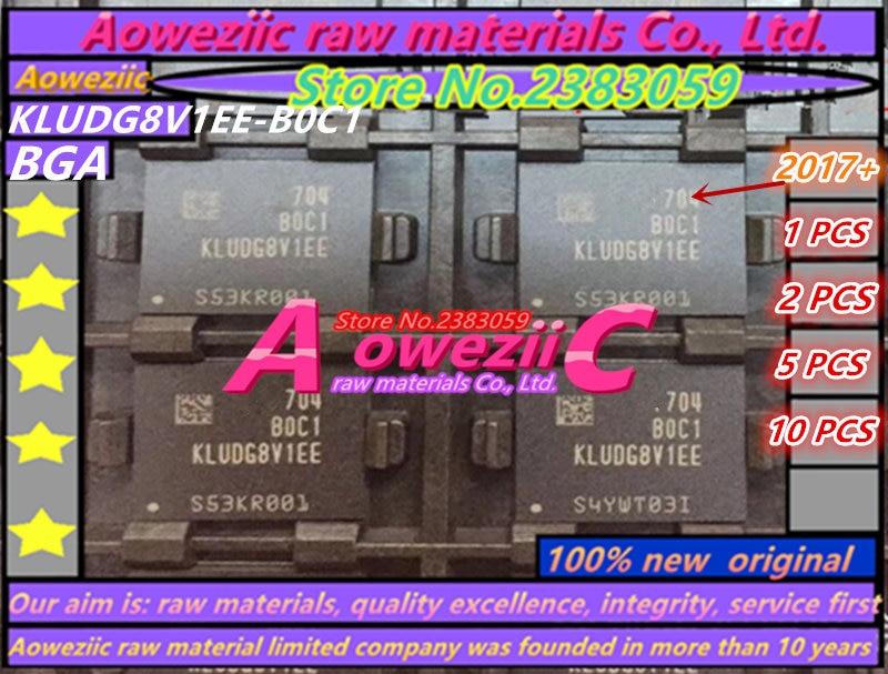 Aoweziic 2017+ (1PCS) (2PCS) (5PCS) (10PCS) 100% new original KLUDG8V1EE-B0C1 BGA memory card chip 128G цена