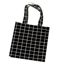 Многоразовый мешок из хлопка и льна для покупок Экологичная, вместительная хозяйственная сумка оригинальные женские сумки из натуральной кожи Повседневное Сумка-тоут 2 Цвет