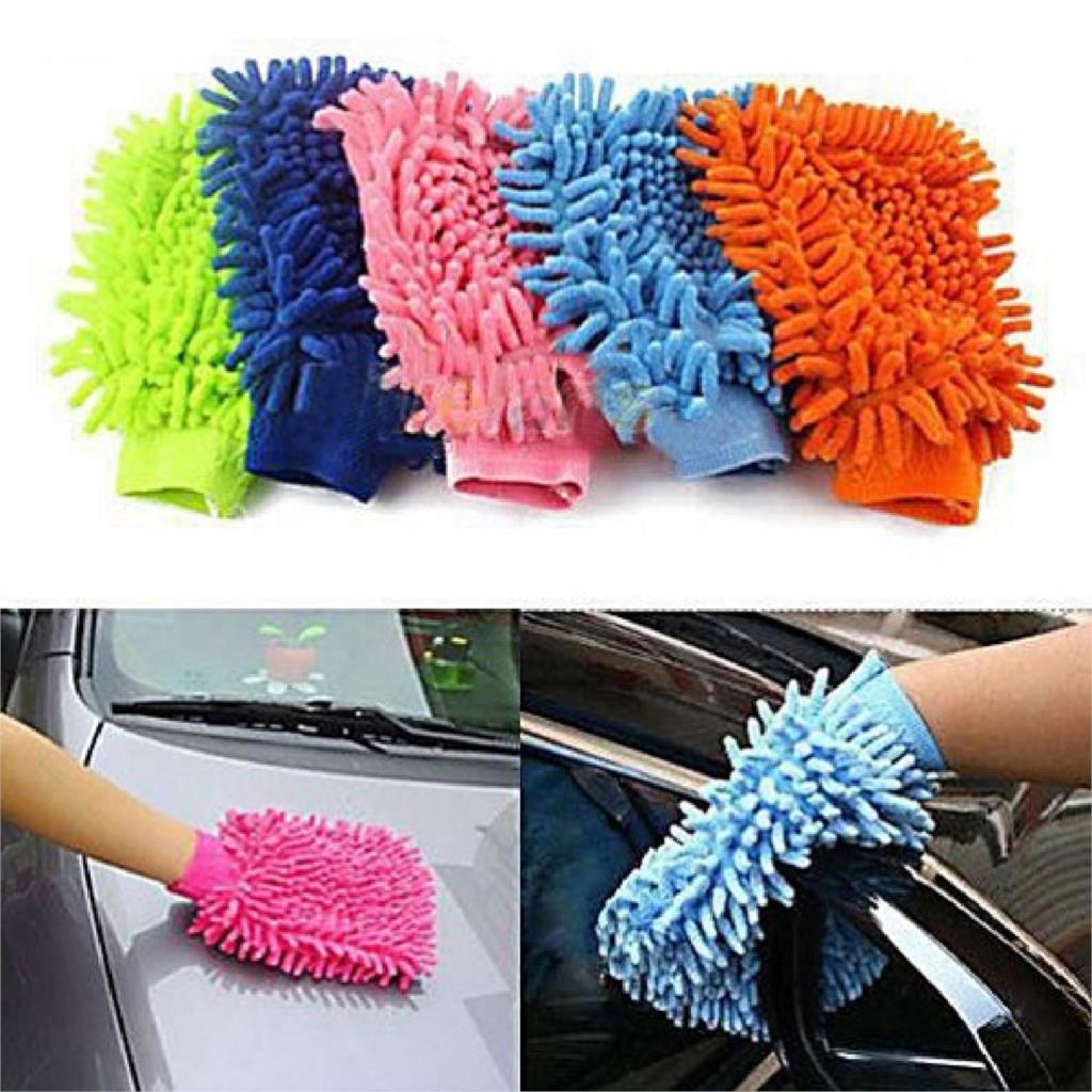 Random Hot Sale New Multicolor Super Mitt Microfiber Car Wash Washing Cleaning Glove high quality