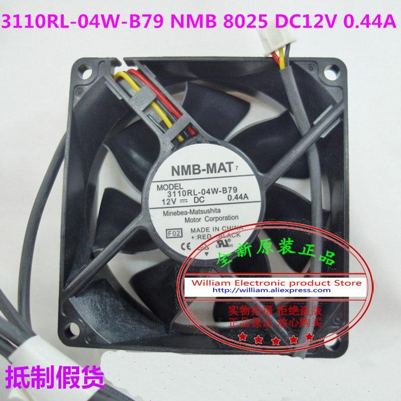 D'origine NMB 3110RL-04W-B79 F02 DC12V 0.44A 80*80*25 MM 8 CM Signal D'alarme de refroidissement ventilateur